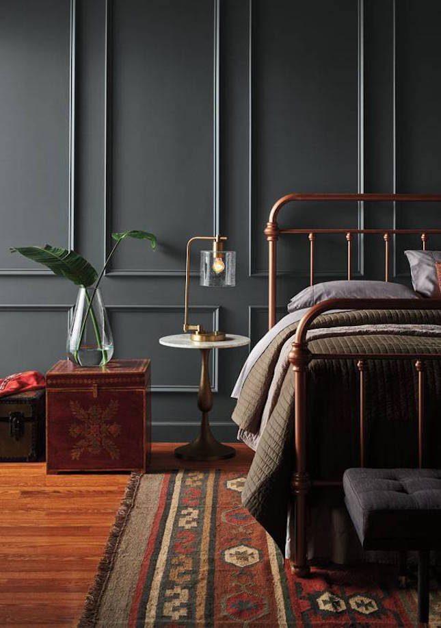 10-cores-tendência-quarto-com-parede-cinza-escuro
