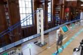 Réplica da ponte do camaleão feita de lego