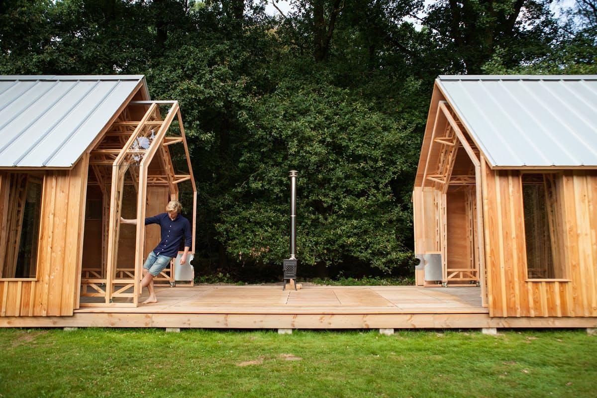 Cabana na Holanda se move em quatro posições diferentes