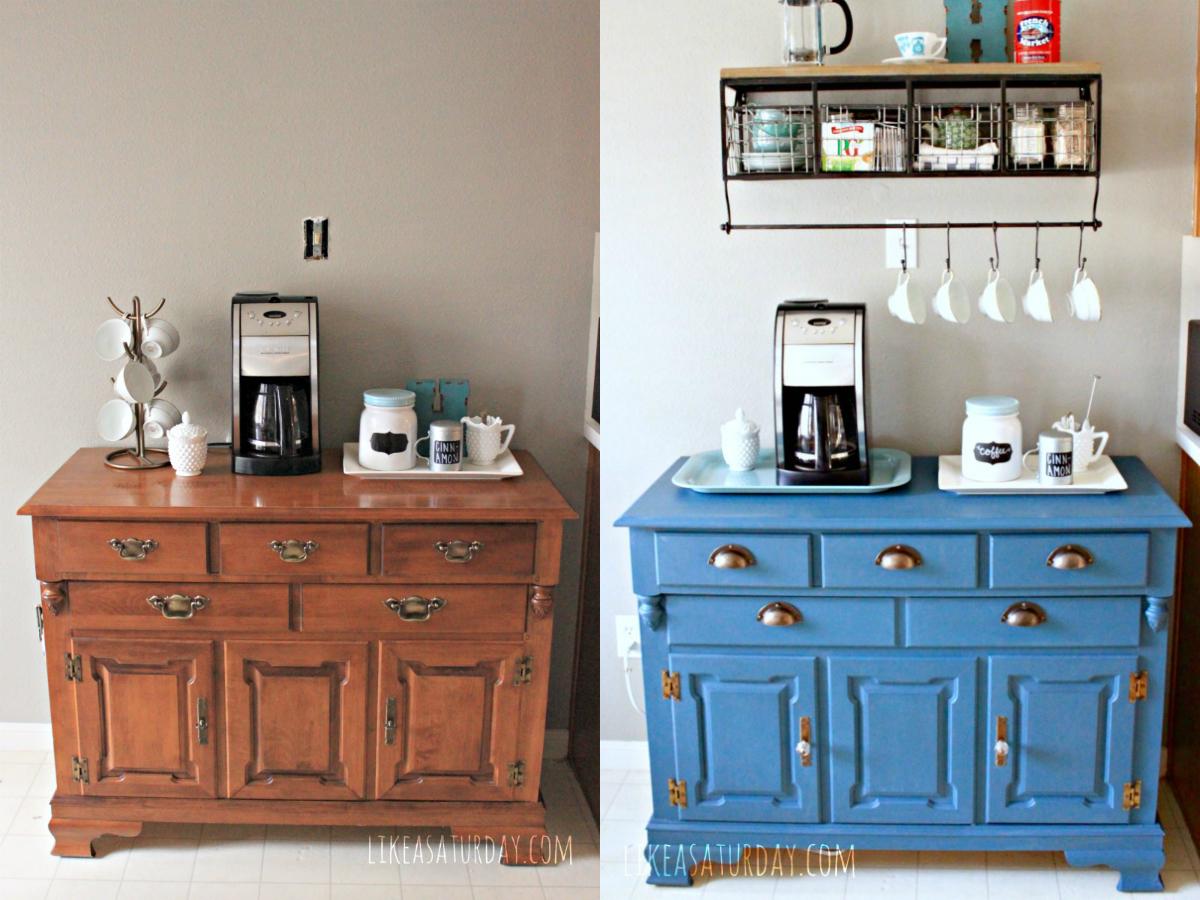 colagem-antes-e-depois-aparador-de-madeira-fica-azul-cafe
