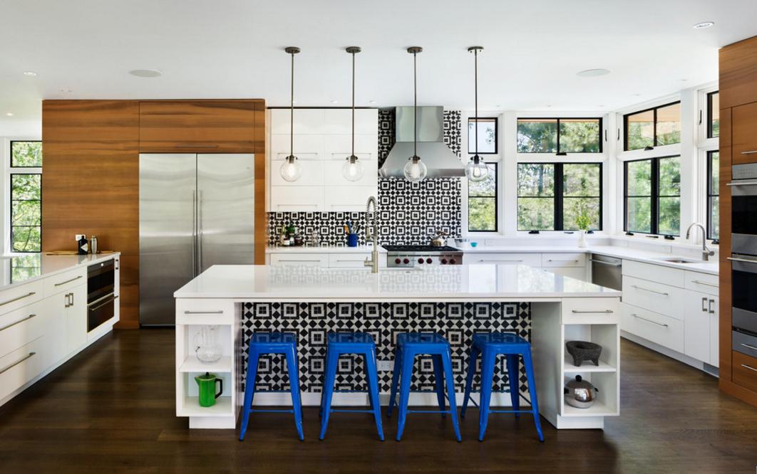 cozinha-geometrica-preto-e-branco-Structure Works Construction Inc