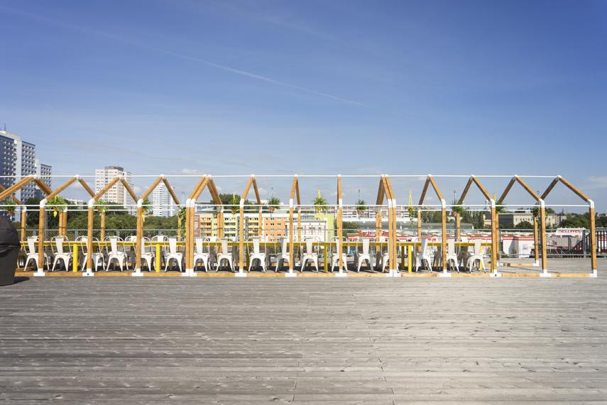 Estrutura de casa de madeira