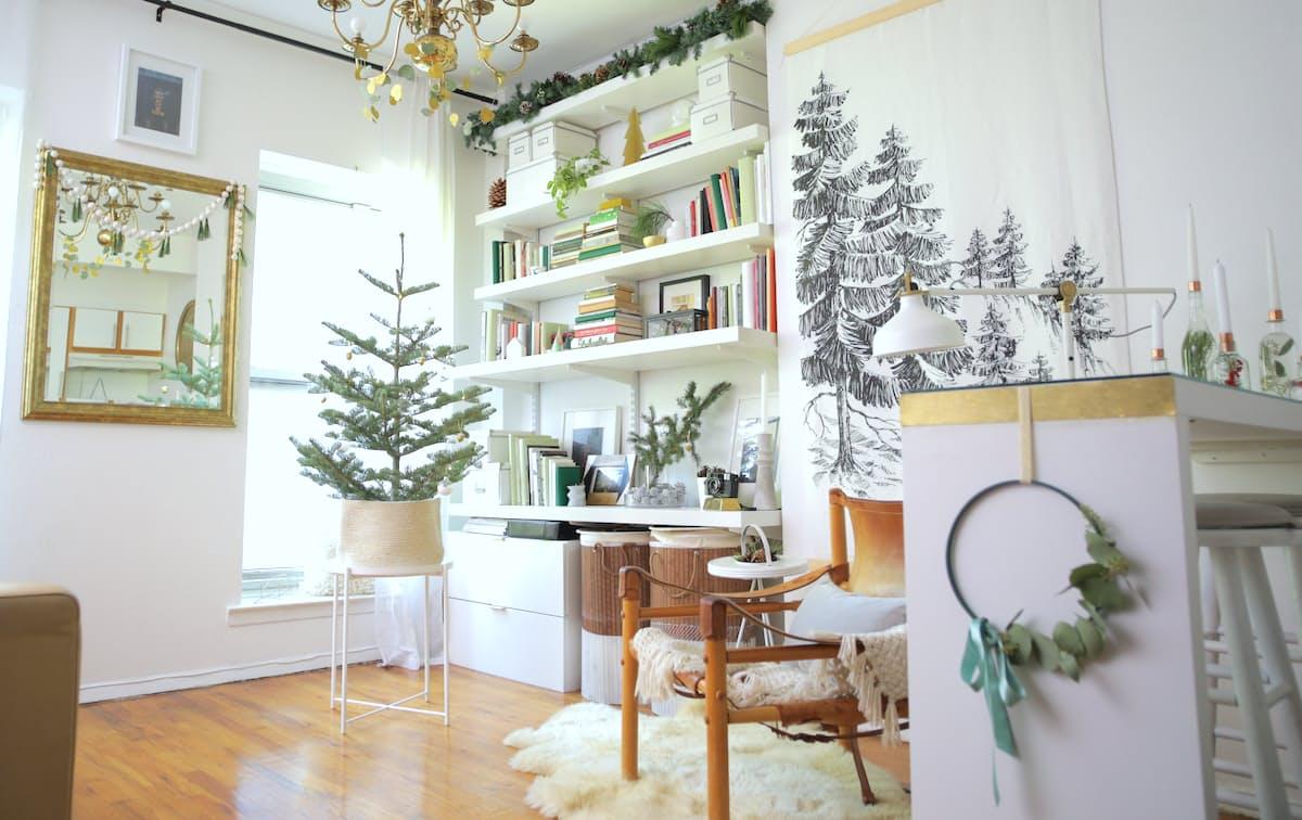 1-sala-decorada-para-o-natal-em-estilo-escandinavo