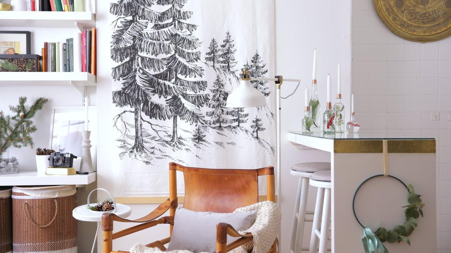 2-sala-decorada-para-o-natal-em-estilo-escandinavo