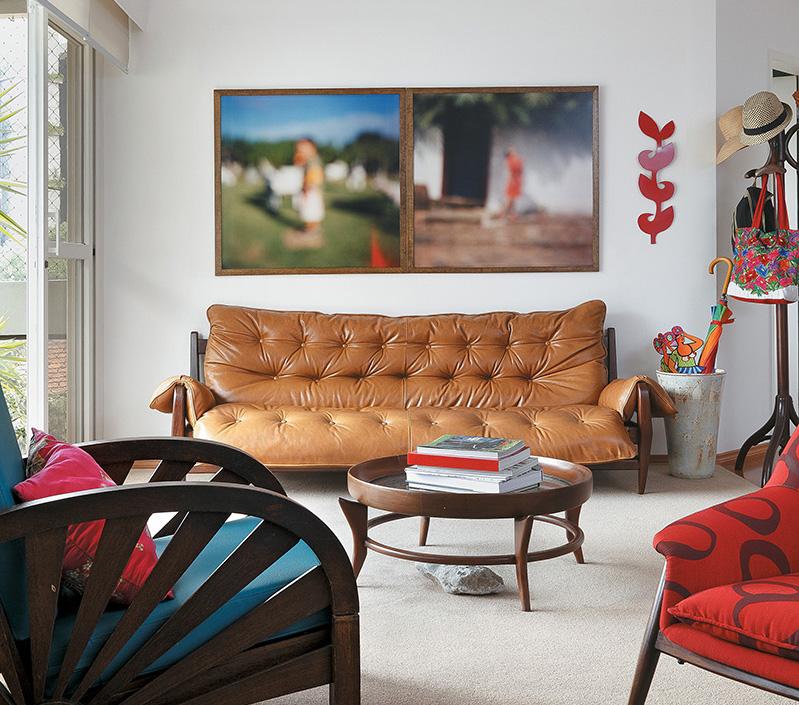 Apartamento da artista plástica Joana Lira e do jornalista André Viana