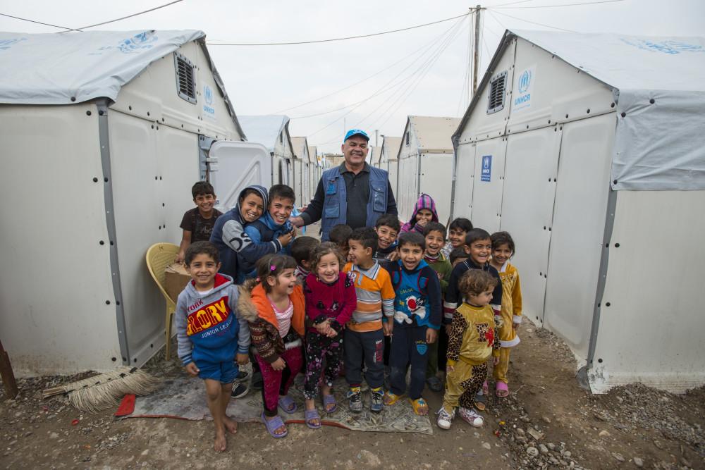 Refugiados em Bagdá, no Iraque.