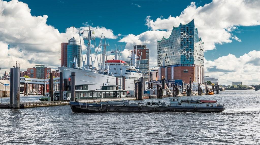 HafenCity, em Hamburgo, Alemanha.
