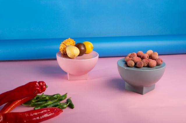 O Mila Bowl, de Sebastian Herkner para a PULPO GMBH, investiu nas formas geométricas.