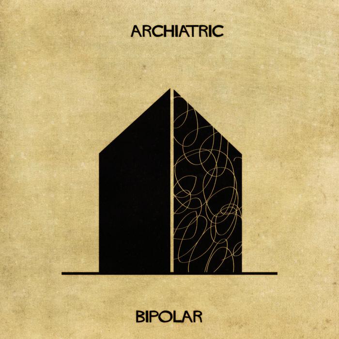 Ilustração de uma casa representando a bipolaridade