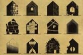 Ilustrações de Federico Babina da série Archiatric, retratando doenças psicológicas