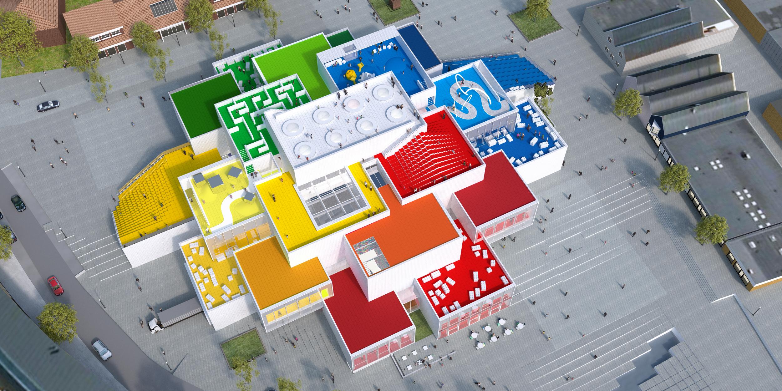 Modelo da LEGO House revela detalhes dos espaços