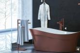 Banheiro com metais coloridos é tendência na Expo Revestir 2017