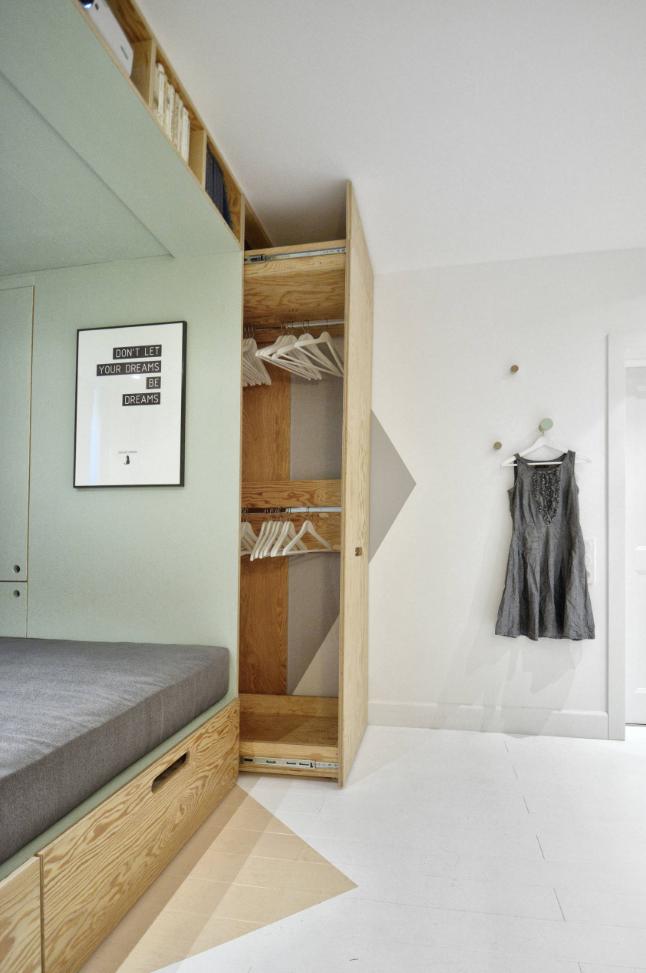 Quarto minimalista e funcional