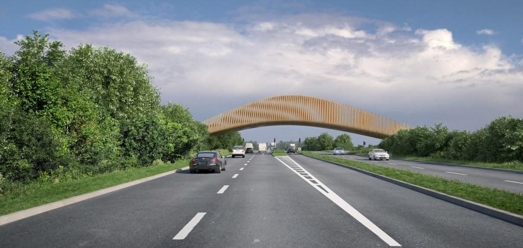 Zaha Hadid Architects completa o projeto do Eco Park na Inglaterra com ponte e edifícios sustentáveis