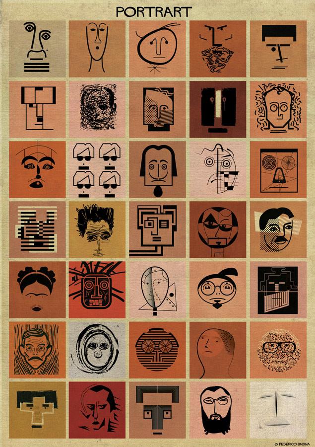 Federico Babina cria ilustrações de artistas famosos