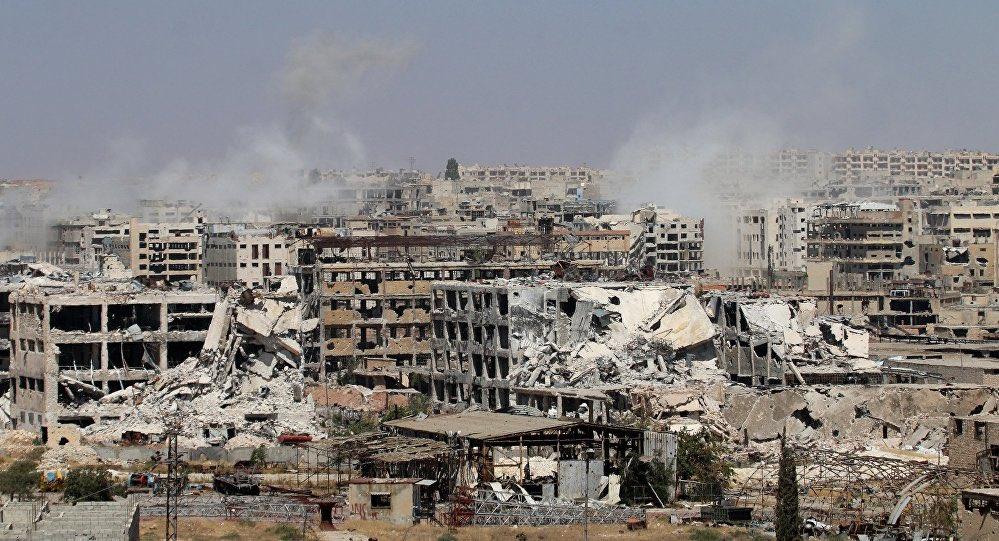 Aleppo destruída pela guerra