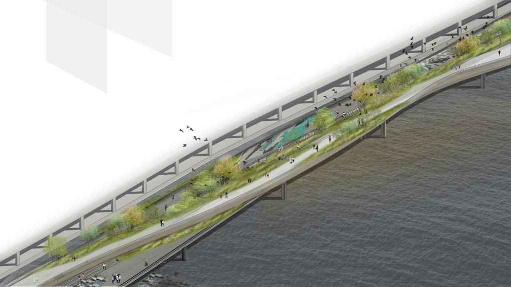 wHY GROUNDS desenvolveu o Greenway, um projeto que busca revitalizar e criar novos espaços na área litorânea de Manhattan, em Nova York