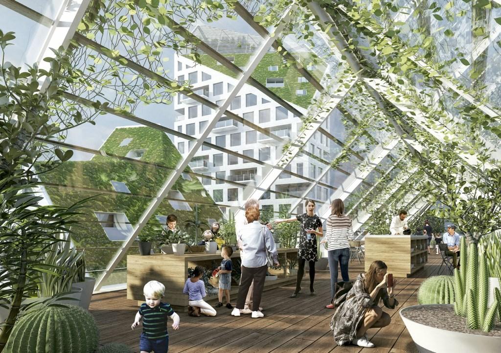 No projeto do escritório holandês MVRDV, há verde até nos telhados.