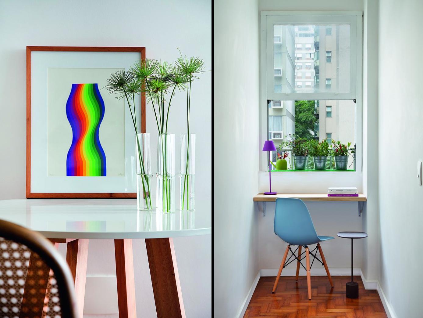 Apartamento de 45 m² com decoração moderna e descomplicada