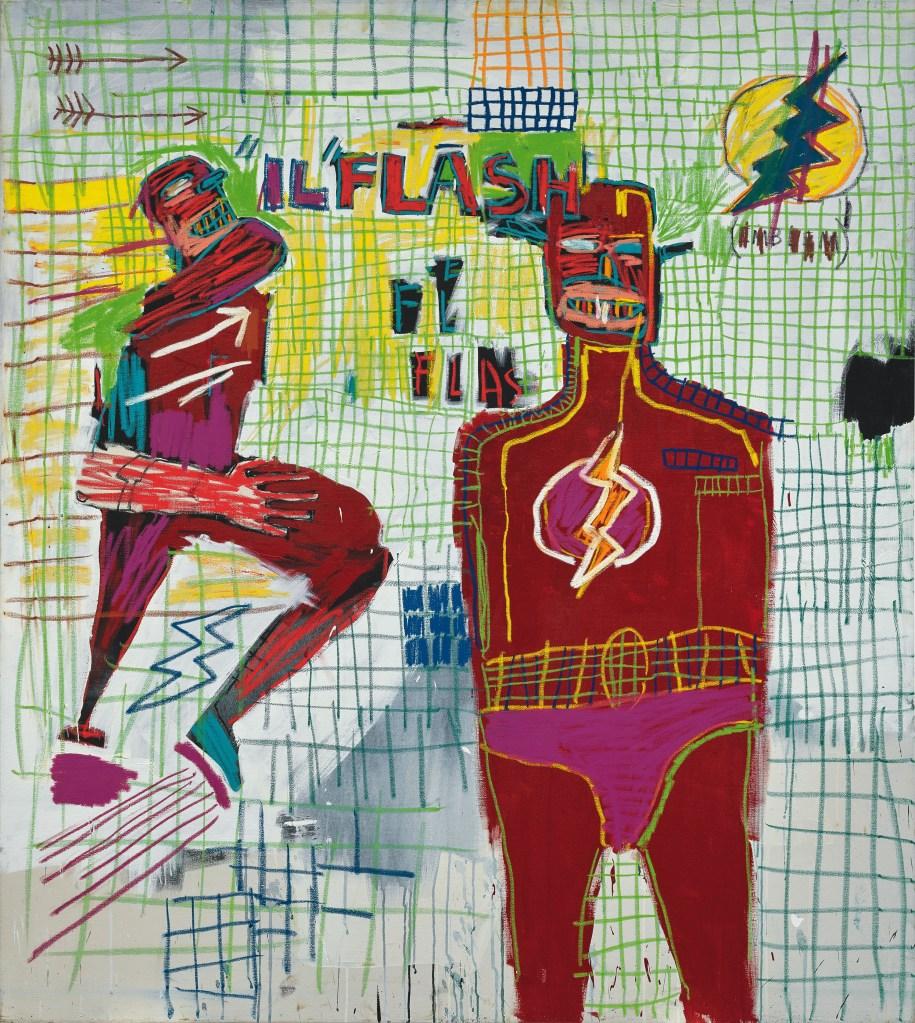 Flash em Napoles, 1983. Acrílico e tinta a óleo em bastão sobre tela.