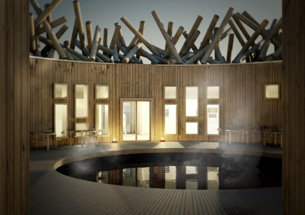 Em Harads, o Artic Bath foi pensado para ser utilizado o ano todo – de banhos quentes no inverno a banhos no Ártico no verão