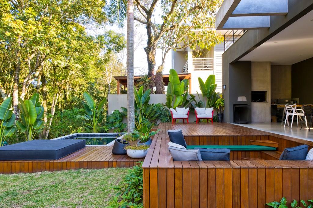 Área externa de casa em Curitiba