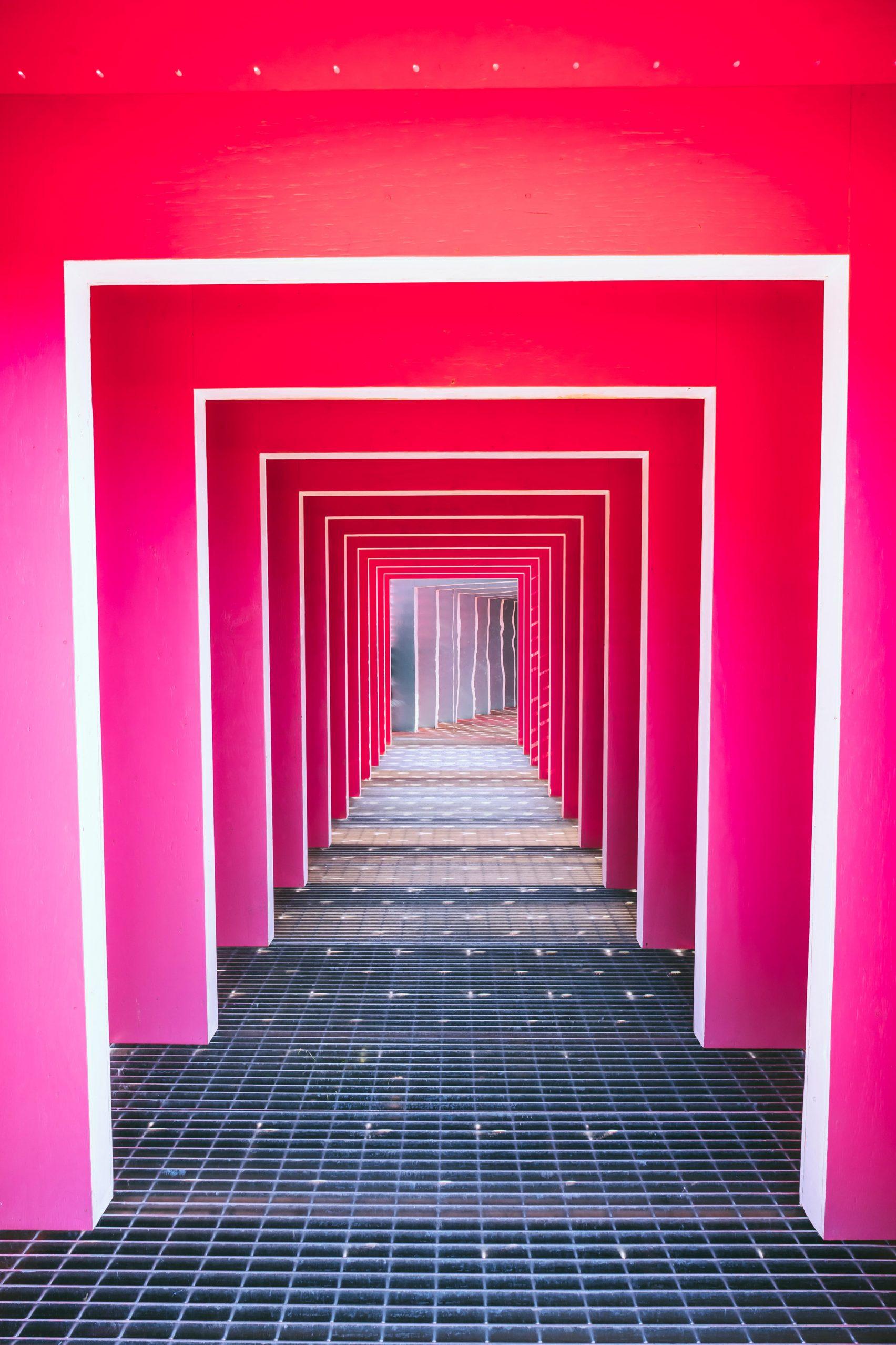 Túnel cor-de-rosa