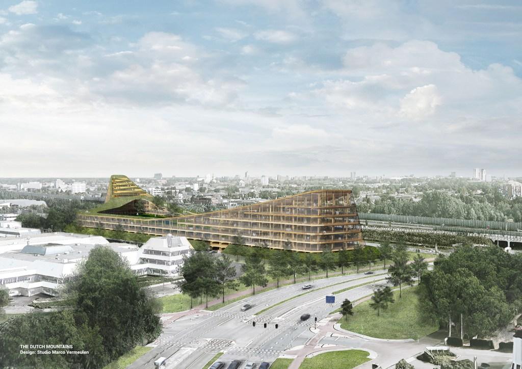 O The Dutch Mountains somará mais de 40 mil metros quadrados e contará com hotel, escritórios, restaurantes e supermercado