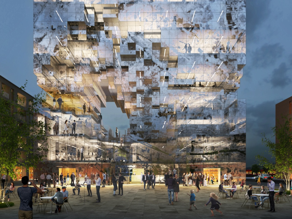 De uso misto, a construção abrigará escritórios e contará com elementos interativos