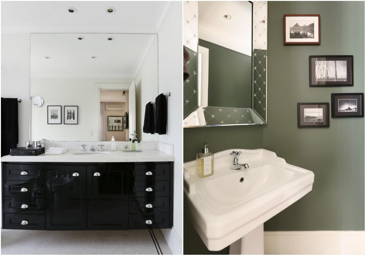 Banheiros com décor clássico