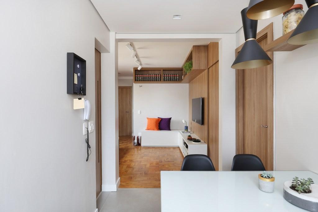 Apartamento de 60 m² decorado para um estudante
