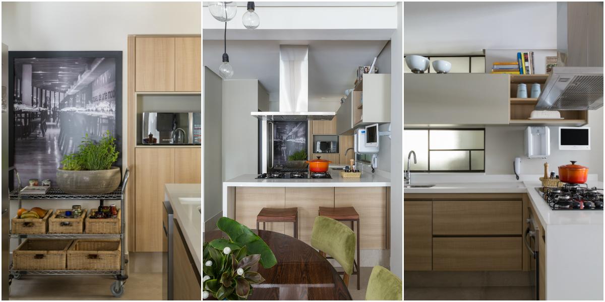 Cozinha de madeira e inox