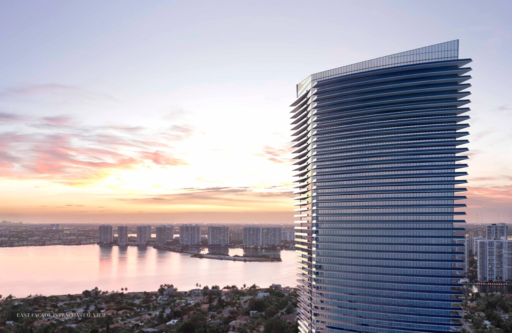 Na área de Sunny Isles, o prédio terá 308 unidades – os preços começam em 3,5 milhões de dólares