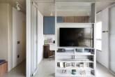 Painel de Tv separa ambientes