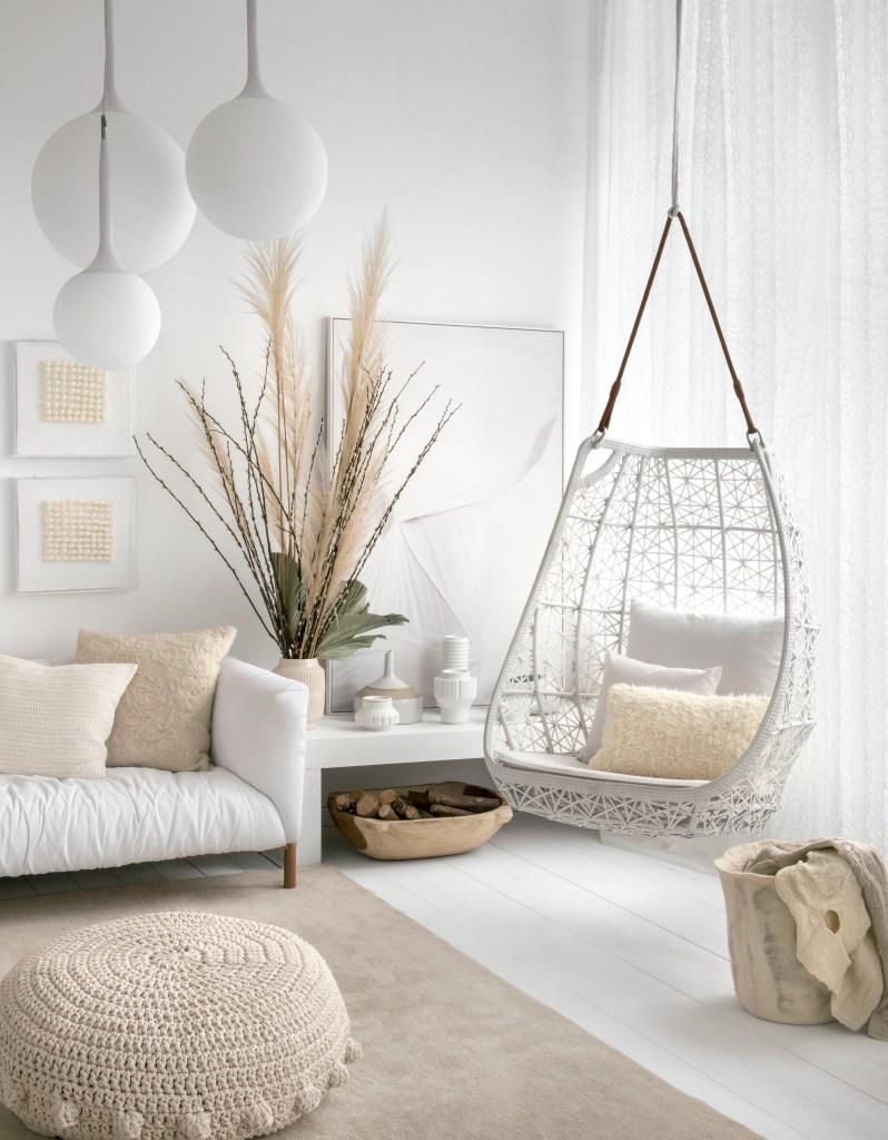 Ambiente com décor todo branco