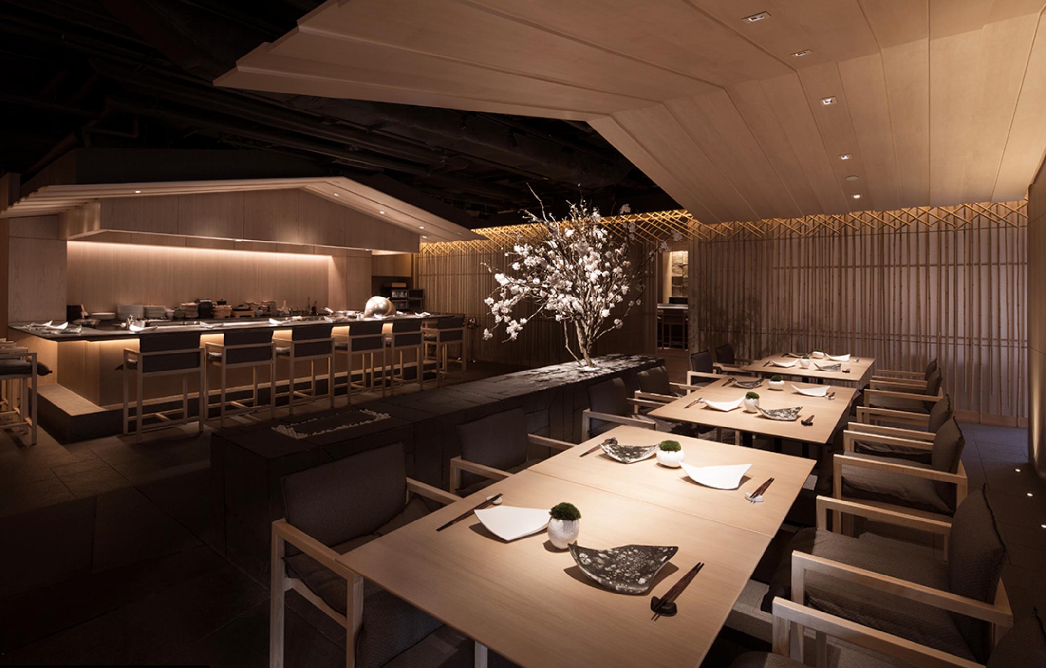 Floresta de bambu é inspiração para novo restaurante em Hong Kong