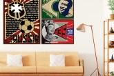 Artistas criam obras inspiradas na Copa e no Construtivismo Russo