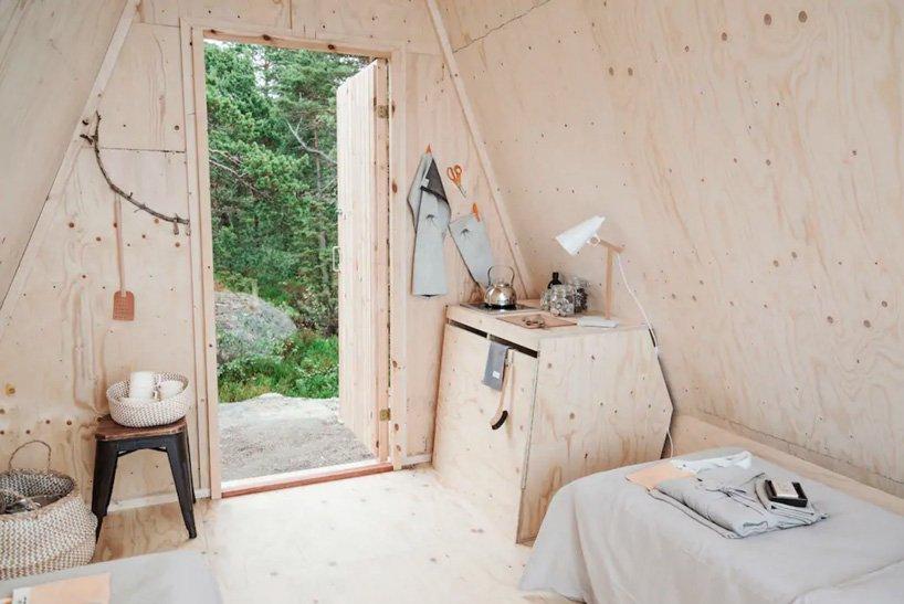 O designer finlandês Robin Falck criou a cabana Nolla a partir de soluções sustentáveis